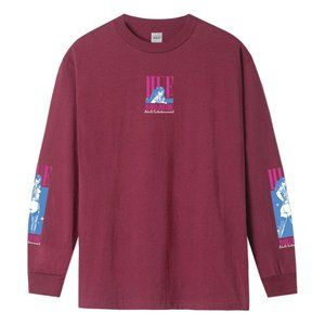 HUF ADULT ENTERTAINMENT LONG SLEEVE T-SHIRT (RED)